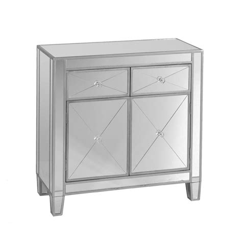 Mirrored Storage Cabinet Southern Enterprises Vernon Mirrored Storage Accent Cabinet Hd862323 The Home Depot