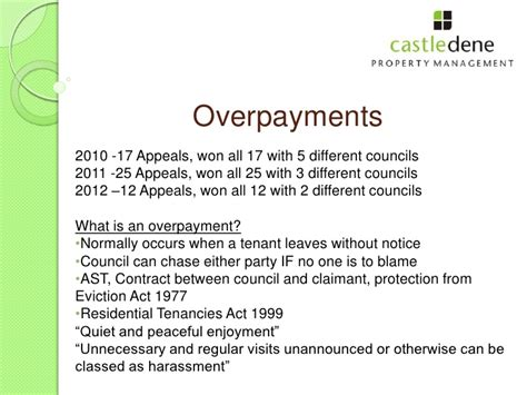 Overpayment Appeal Letter Template Paul From Castledene At Humber Property Network Talk 2012