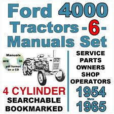 Ford 4000 Tractor Manual Ebay