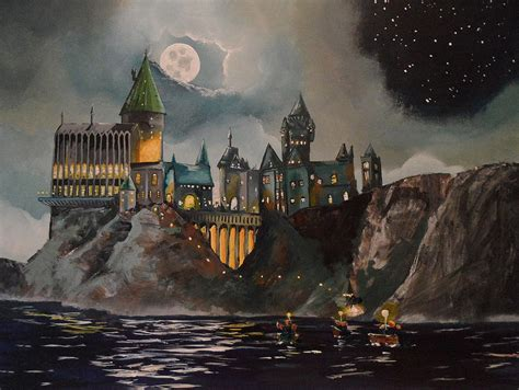 harry potter painting hogwart s castle painting by tim loughner
