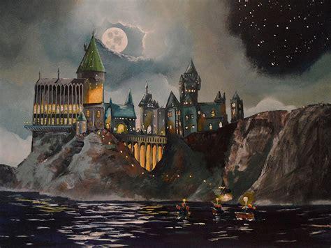 Hogwarts Wall Mural learning watercolor on pinterest watercolor landscape