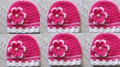 como hacer gorros a crochet para nina gorros para ni 209 os y ni 209 as tejidos a crochet youtube