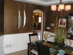 Brown Dining Blue Room by Christa Delgado Design Inc Design Dilemma Answer