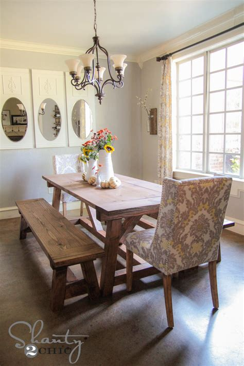 Diy Dining Room Table With Bench Diy 40 Bench For The Dining Table Shanty 2 Chic