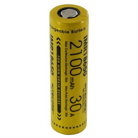 Baterai Kotak nitecore imr18650 baterai vape 2100mah 30a 3 7v yellow
