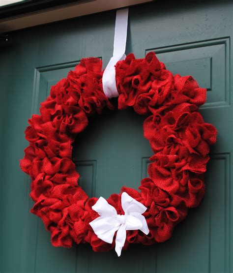 new south design ruffled burlap wreath for 20