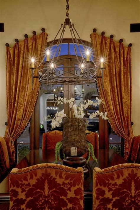 Tuscan Dining Room Drapes Tuscan Dining Room World Mediterranean Italian