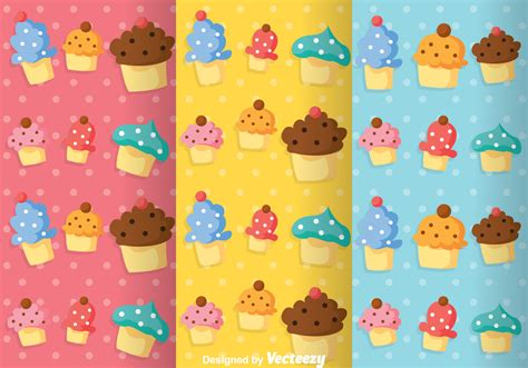 girly cupcake wallpaper cupcake girly pattern vectors download free vector art