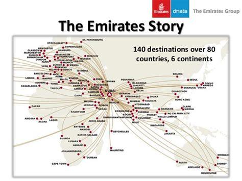 emirates destinations strategic management emirates airline