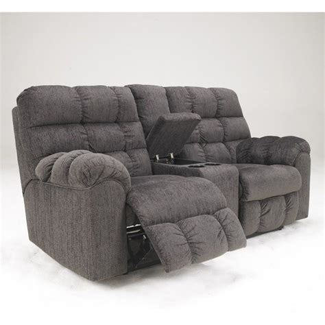 ashley double recliner ashley furniture acieona microfiber double reclining