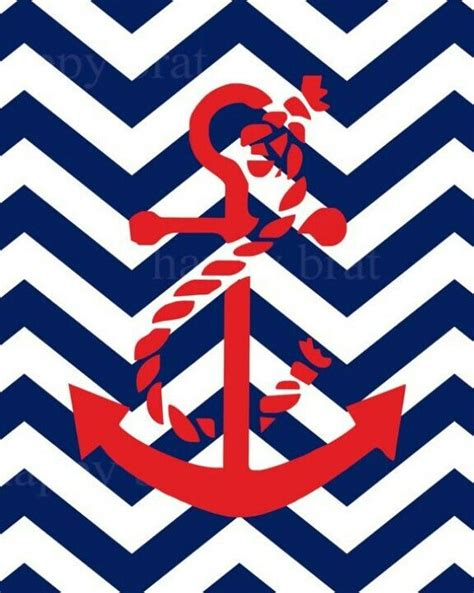girly nautical wallpaper anchor chevron background blue and red screensavers