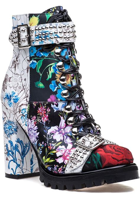 Sneaker Zipper 916 lyst jeffrey cbell lilith black multi leather lace up boot in black