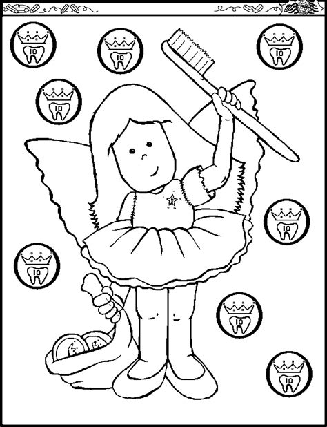 dental health month coloring pages coloring home
