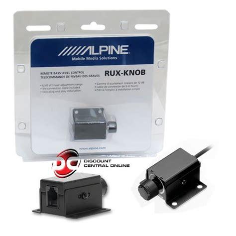 Alpine Bass Knob by Alpine Rux Knob Remote Bass Level Knob For Pdx M12