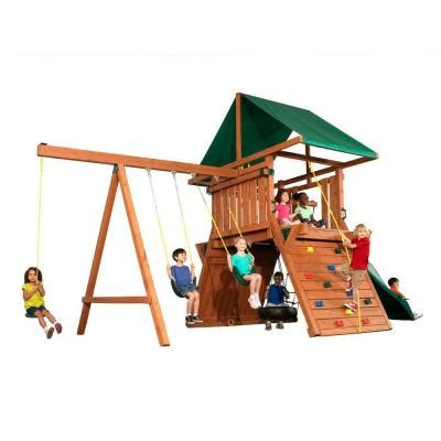 swing sets home depot swing n slide playsets athena redwood premier play set