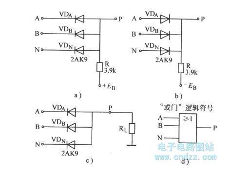 diode gate circuit diode or gate circuit basic circuit circuit diagram seekic