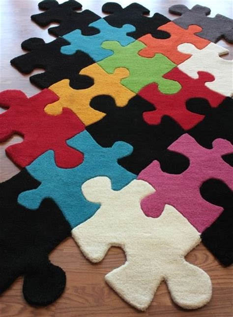 cool playroom rugs puzzle pieces rug great for a playroom could probably do this with carpet remnants on the