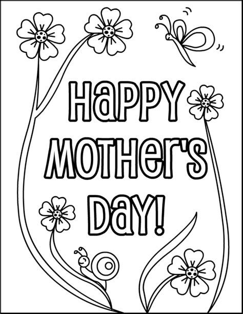 happy mothers day coloring page free printable mothers day coloring pages coloring home