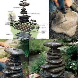 Patio Table With Bench 26 Fabulous Garden Decorating Ideas With Rocks And Stones