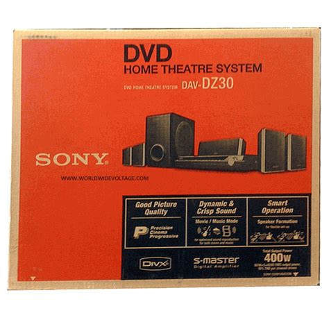 sony dav dz30 dvd home theatre system