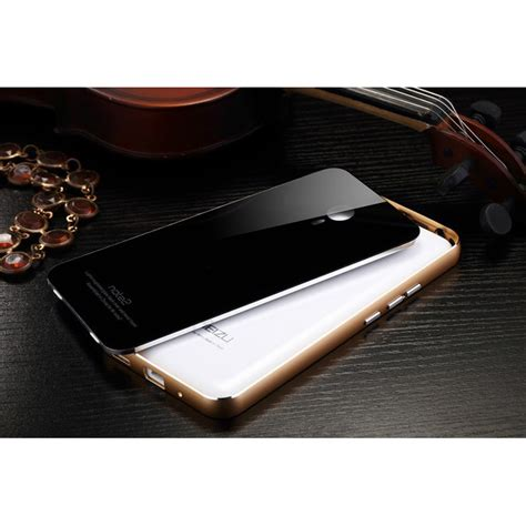 Aluminium Bumper With Mirror Back Er For Meizu Meizu Mx5 Hitam Silver aluminium bumper with mirror back cover for meizu blue