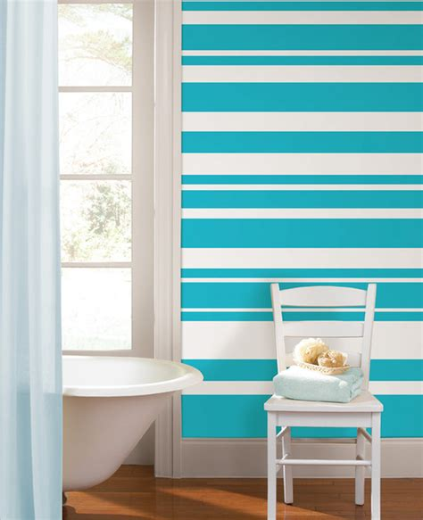 striped wall ideas calypso stripes bathroom with wallpops wall stripes