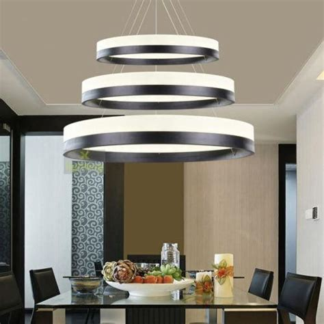 Pendant Dining Room Light Fixtures by 3 Rings Pendant Light Circles Chandelier Dining Room