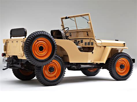 military jeep tan 1946 willys overland cj 2a in harvest tan with sunset red