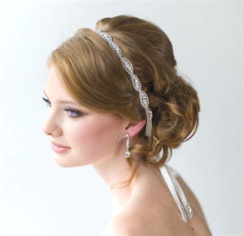 hair styles with rhinestones wedding headpiece bridal beaded headband bridal rhinestone