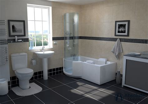 walk  shower baths   disabled absolute mobility