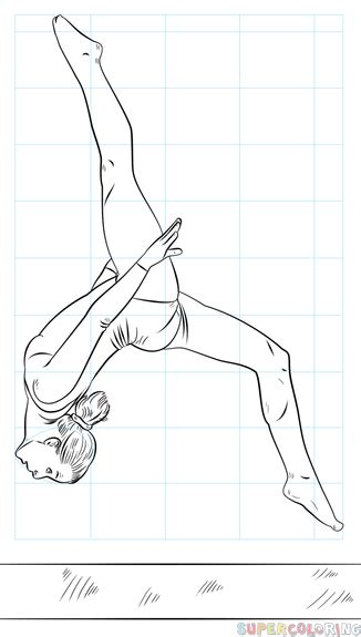 gymnastics vault coloring pages how to draw a gymnast on beam step by step drawing tutorials