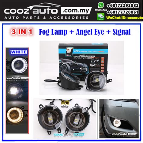 Led Fogl Avanza toyota avanza 2007 2013 3in1 3 5 inch led daytime running light drl fog l signal turning