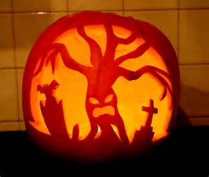 spooky tree pumpkin template 50 best scary pumpkin carving ideas images