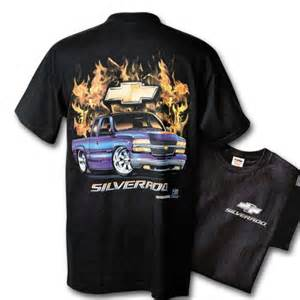 hossrods chevy silverado in flames t shirt rod
