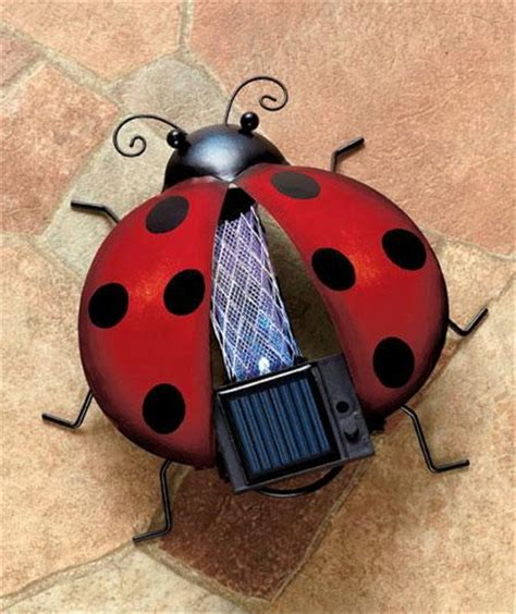 solar bug zapper for garden yard patio in owl ladybug or