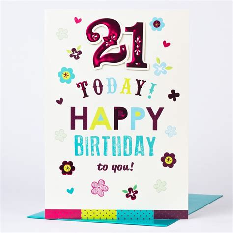 21st Birthday Card Giant 21st Birthday Card Happy 21 Today Only 99p