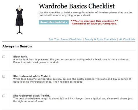 Wardrobe Basics Checklist by Fashion Wardrobe Basics Checklist So Useful Musely