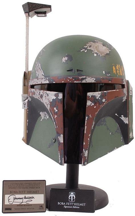 L Replica by Master Replicas 1 1 Scale Wars Helmet Boba Fett Signa