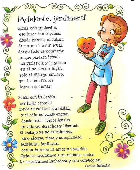 versos a los jardineros actividades escolares tarjetas con frases para la maestra