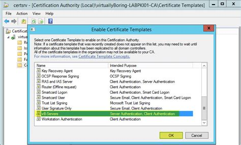 how to setup microsoft active directory certificate