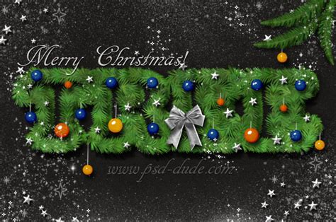 colorful christmas text effects photoshop tutorials