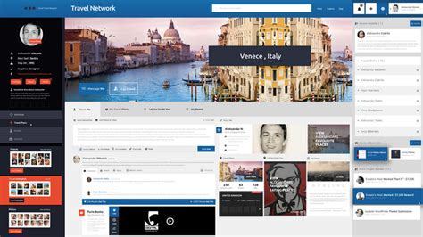 social networking template travel network psd template free psd file