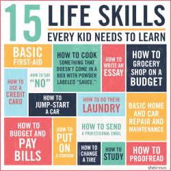 15 vital life skills every kid should know before they