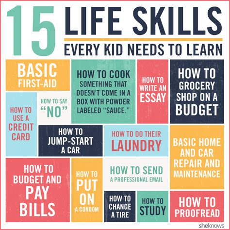 15 skills every kid should before they leave for