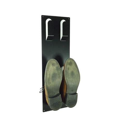 Wall Mounted Shoe Rack Uk by Slimline Wall Mounted Metal Shoe Rack Black