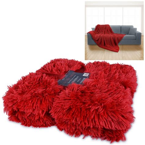 Soft Faux Fur Blanket by Luxury Pile Throw Blanket Soft Faux Fur Warm