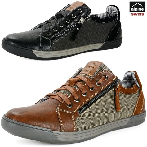 best mens casual sneakers alpine swiss fabian mens casual sneakers low top lace up