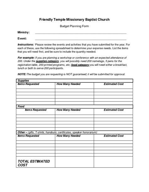 church budget template best photos of church budget worksheet free church