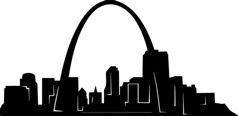 Blue And Brown Home Decor by Gateway Arch St Louis Decal Picture Art Wall Sticker 40 Quot X