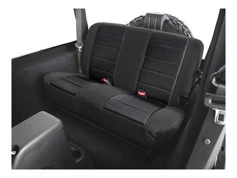 rugged ridge seats rugged ridge wrangler rear fabric seat cover black 13281